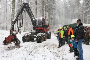 """Praktikertag 1/2018 """"Windwurfaufarbeitung"""""""